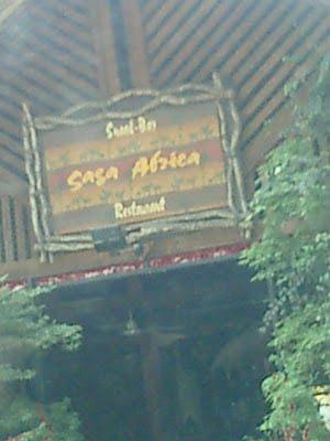 "Le restaurant ""SAGA AFRICA"""