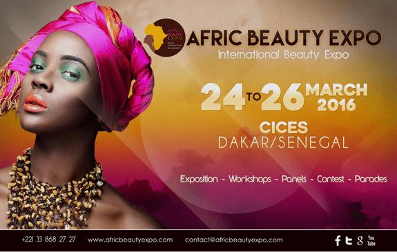 Afric Beauty Expo: Du 24 au 26 mars 2016 à Dakar