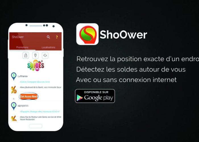 ShoOwer: L'application qui vous trouve les adresses utiles et promotions proches de vous
