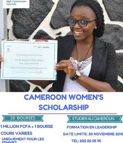 La bourse «Cameroon's Women Scholarship» offerte par le H-C de Grande-Bretagne