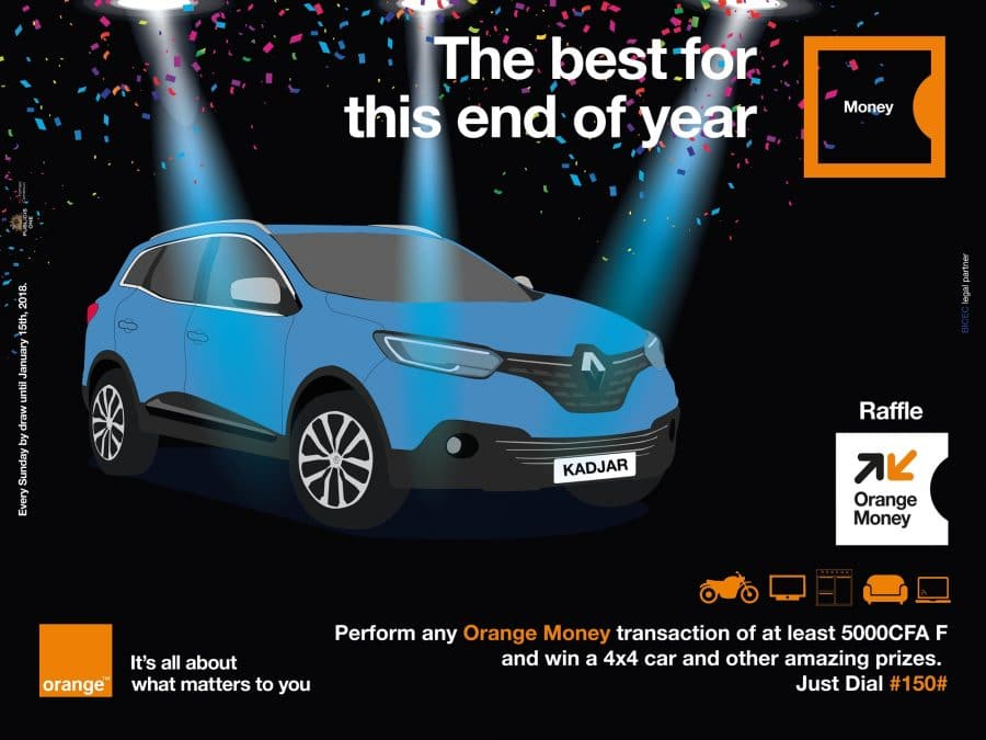 win your end of the year gifts with orange money raffle