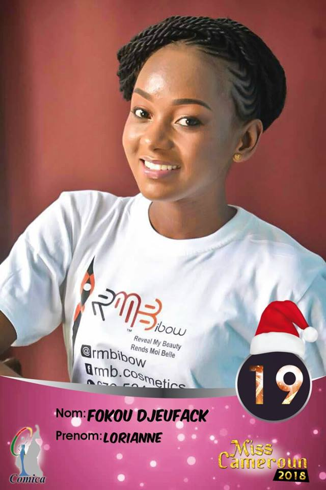 19- Fokou Lorianne, 1ere Dauphine Miss Cameroun Littoral 2018