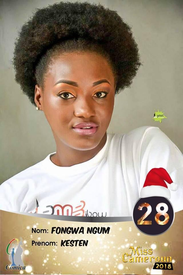28- Kesten Fongwa, Miss Cameroun Nord Ouest 2018