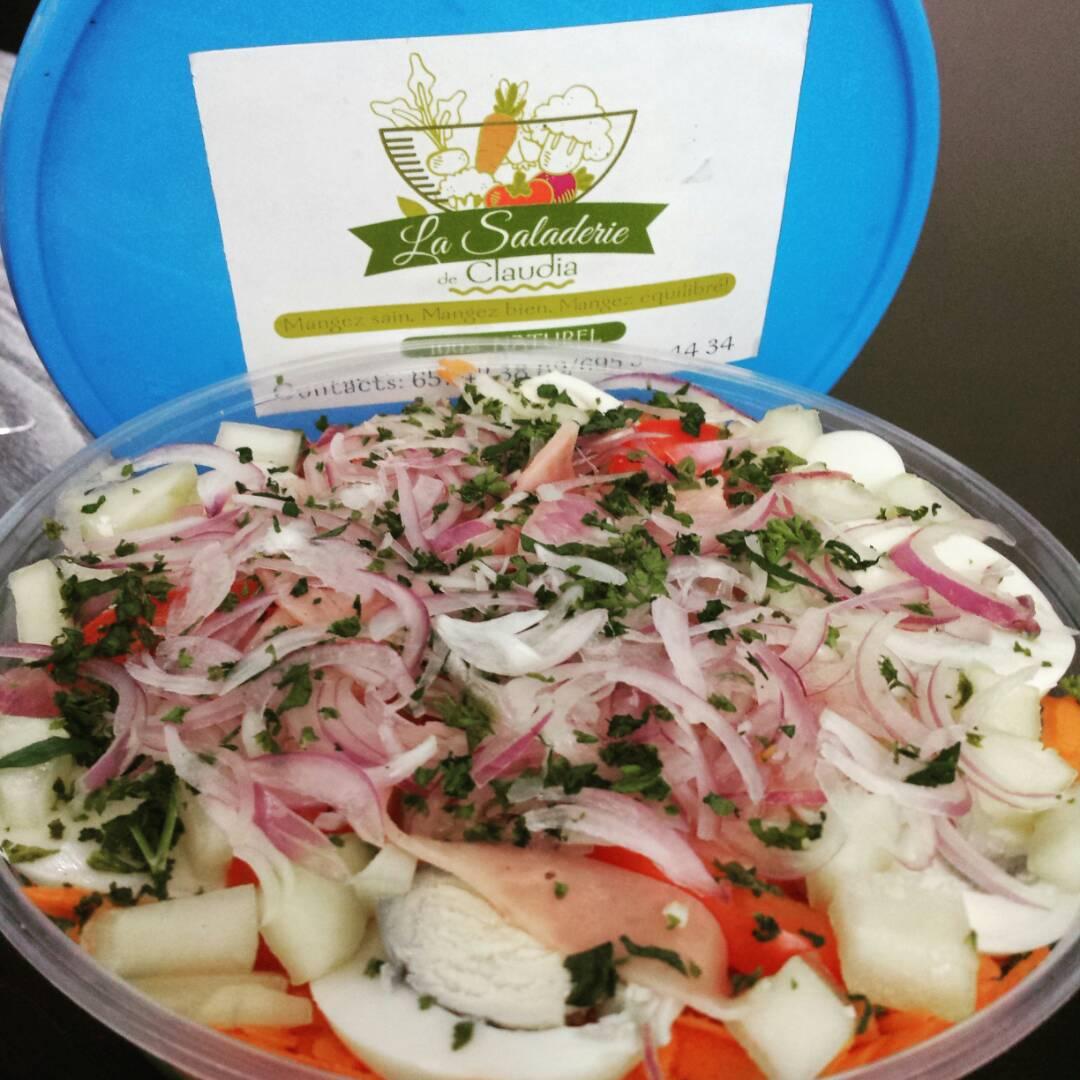 Saladerie de Claudia - Salade au Jambon - Les Marches d'Elodie