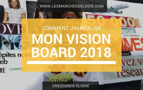 #DansMesMarches: Comment j'ai réalisé mon Vision Board 2018 avec Snuggig!