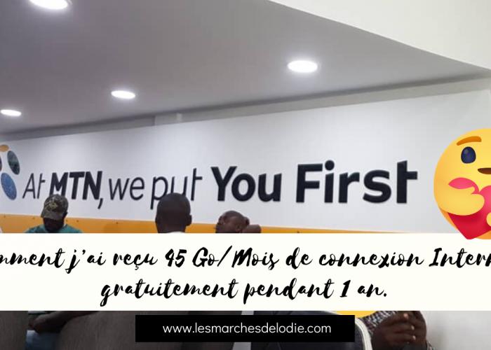Comment j'ai reçu 45 Go/Mois de connexion Internet gratuitement pendant 1 an avec MTN Cameroon et l'APME.